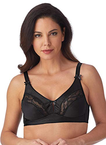 Carol Wright Gifts Wirefree Bras for Women | Soft Cup Wirefree Bras for Women, Color Black, Size 44A, Black, Size 44A