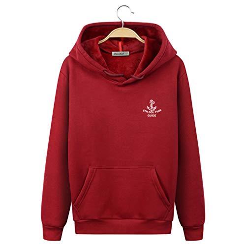 Ning Night Unisex Hooded Sweater Heren pluche Turtleneck Cap Pullover Studenten Cotton Sportjas De herfst-mannen Hoodie
