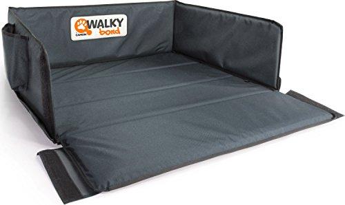 dobar 62300 Walky Bond - Vielseitige Kofferraum-Schondecke, Faltbare Hunde-Schutzdecke mit Tragetasche, 100 x 80 x 30 cm, XXL, grau/blaugrau