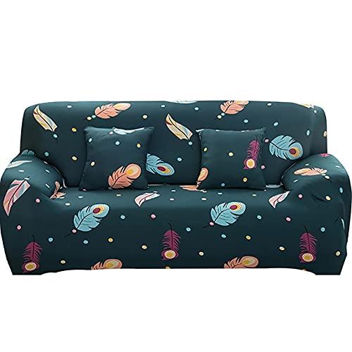 WXQY Funda de sofá elástica elástica para Sala de Estar,Funda de sillón de combinación de Esquina geométrica,Funda de sofá de protección para Mascotas A1 1 Plaza