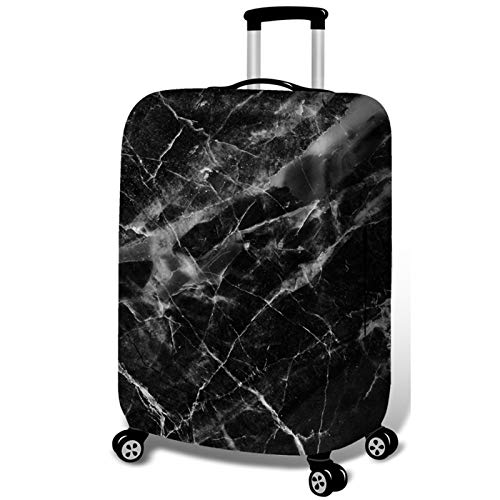 DATUI Marble Pattern Print Trolley Case Protective Cover Elasticity Travel Luggage Protector Suitcase Cover Washable Dust Cover 53cmx35cm
