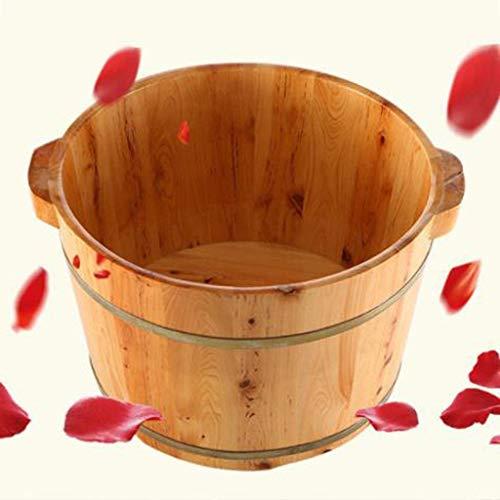 Pies Spa Bañera Pie podal cuenca Pies pediluvio tina de baño del hogar del balneario del pie de madera de hidromasaje pequeña de madera Pies barril Spa Cubo Baño bath madera maciza