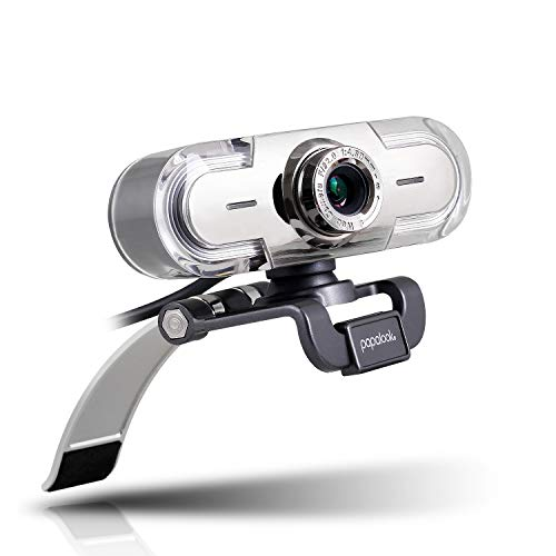 papalook PA452 Webcam HD 1080P, Multicolore Moderna Camera con Microfono Integrato Definizione Alta USB 2.0 Compatibile con Skype MSN Facebook Youtube