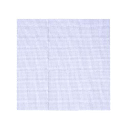 Onepine 2 Piezas Punto de Cruz Tela 45 x 30 cm Aida Tela 11 Count para Bricolaje Bordado,Blanco