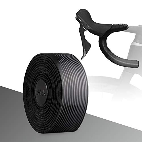 RHG-Handlebar Bicicletta Nastro Manubrio Gel di Sughero Materiale Involucri Antiscivolo for Bici da Strada Bicicletta A Scatto Fisso con Tasselli (2 Pezzi/Set) (Color : 7)