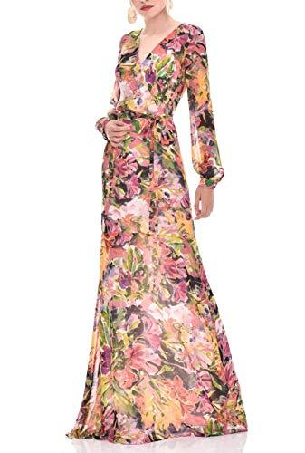 TONALA | Vestido Largo Mujer Fiesta Evento Verano Elegante Largo Estampado Chic...
