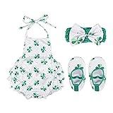 PRETYZOOM 3 Piezas Flores de Loto Flor Flotante para Centros de Mesa de Seda Acuario- Trajes Recién Nacidos Moda St. Patricks Bebé de Una Pieza Delantal de Bebé- Mono para Niños Pequeños