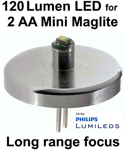 Mini Maglite AA Philips Lumileds LED Upgrade Bulb, Flashlight Conversion, 1 Watt UpLED
