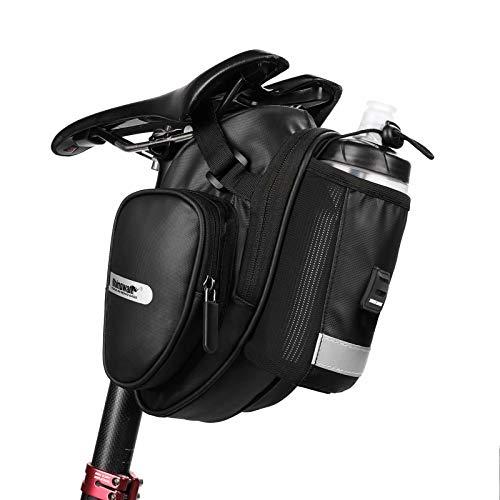 Rhinowalk Fahrrad Satteltasche Flaschenhalter Sitztasche Fahrradtasche Radtasche mit Regenschutz für Mountainbike Rennräder