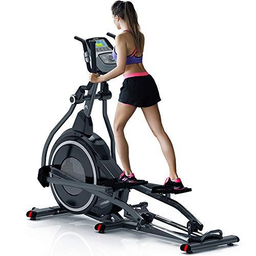 YAMMY Inicio Profesional Elíptica De, Cardio Home Office Máquina De Fitness Entrenamiento con Quiet System Freno para Todas Las Edades Peso Máximo del Usuario 150 Kg