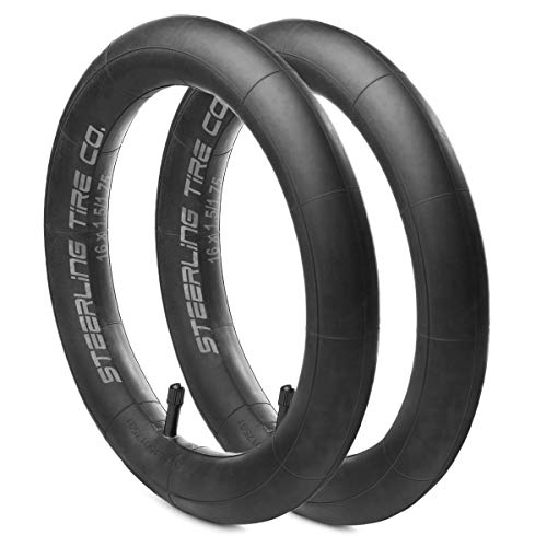 16'' x 1.75/2.125 Heavy Duty Thorn Resistant Inner Tire Tube for All Baby Trend Expedition Jogger Strollers - The Perfect Baby Trend Stroller Tire Tube Replacement [2-Pack] Steerling Tire Co.
