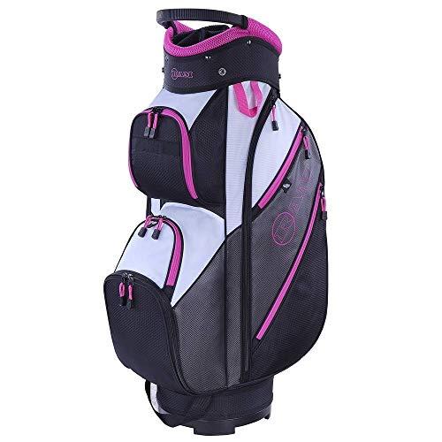 RAM Golf Lightweight Ladies Cart Bag with 14 Way Dividers Grey Pink