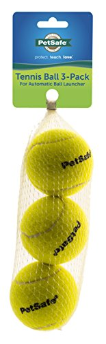 PetSafe Tennis Dog Toy Balls Compatible with Automatic Ball Launcher 3 Pack Yellow Standard