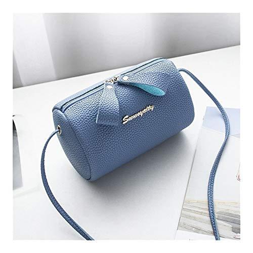 TEYUN - Bolsa con cremallera de lichi con texto en inglés 'Wild Cute Korean', color azul