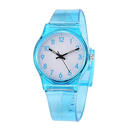 watch Reloj impermeable para niños de 30 M, reloj transparente informal, reloj de gelatina para niños, relojes de pulsera para niñas, reloj Erkek Kol Saati
