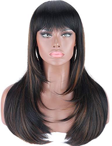 comprar pelucas pelo liso largo color castaño