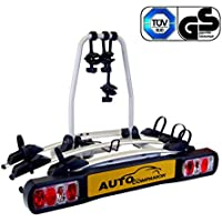 Auto Companion - Soporte para bola de remolque con plataforma trasera para 3 bicicletas