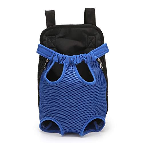 Bolsa de transporte para mascotas con manos libres, ajustable, con cuatro patas, con patas suaves, para perro, gato, mochila de viaje, S