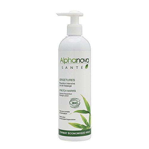 Alphanova Santé Vergetures Lait de Massage Prévention Intensive 400 ml