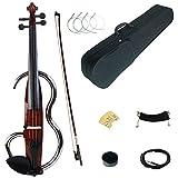 XTQDM Geige Volle Größe 4/4 farbige Massivholz Advanced Metal Electric Silent Violine Kit mit Ebenholzbeschlägen, JSDS1601, China