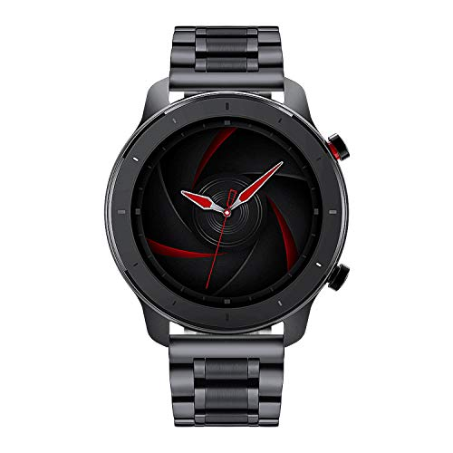 BINLUN Bandas de Reloj compatibles con Amazfit Bip/GTS/GTR 42mm 47mm, Amazfit Pace/Stratos Smartwatch Banda de Acero Inoxidable Reemplazo 20mm 22mm Correas de Reloj de Metal Pulsera de Negocio