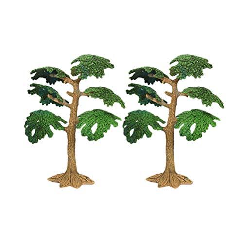 STOBOK 2 Stück Kunststoff Baum Modell Kleine Simulation Kiefer Zypresse Spielzeug DIY Handwerk Eisenbahn Landschaft Pflanze für Kinder Kinder (Medium)