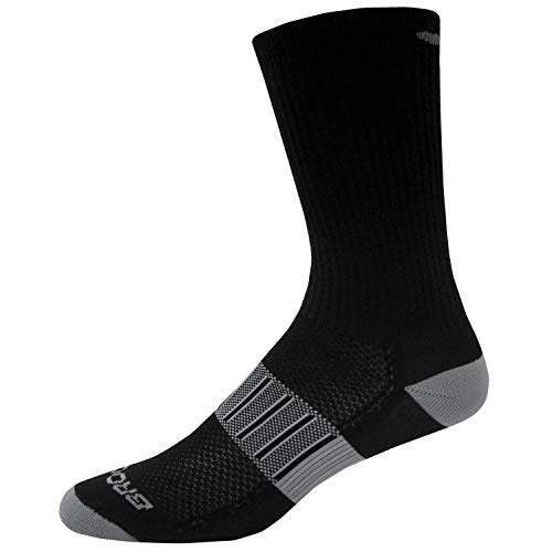 Brooks Ghost Midweight Crew 2 Pack Running Socks Black/Oxford Size Small