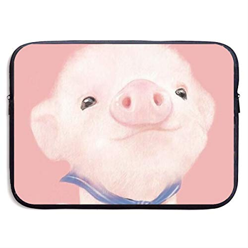 Waterproof Laptop Sleeve 13 Inch, Cute Pig Business Briefcase Protective Bag, Computer Case Cover for Ultrabook, MacBook Pro, MacBook Air, Asus, Samsung, Sony, Notebook