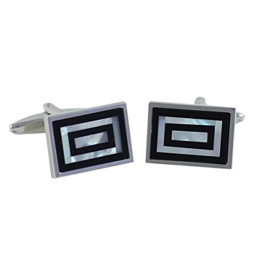 Boutons de manchette Homme G.CHABROLLE, Perlmutt / Onyx, im Etui 6086