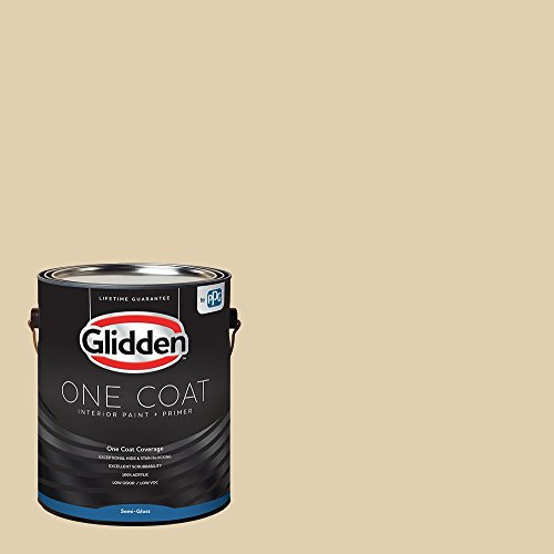 Glidden Interior Paint + Primer: Beige/Almond Cream, One Coat, Semi-Gloss, 1-Gallon