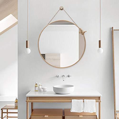 C K H Bathroom Mirror Wall Hanging Wall Hanging Mirror Vanity Mirror Bathroom Mirror Wall Hanging Toilet Toilet Nordic Bathroom Mirror Gold Size Diameter 50cm Wantitall