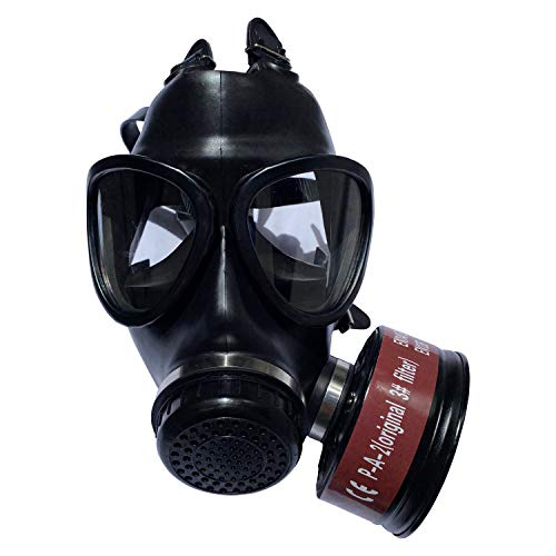 Mask Full Face Head Ventilative Biochemical Gas Mask Widely Used in Organic Gas, respirator paint,...