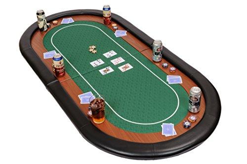 Riverboat Gaming Champion faltbare Pokerauflage mit grünem wasserabweisenden Stoff und Tasche – Pokertisch 180cm - 7