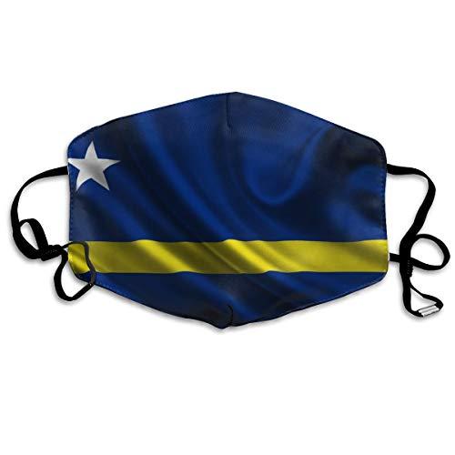 Curaçao Vlag Unisex Volledige Coverage Buis Gezichtsmasker Bandanas UV Bescherming Hals Gaiter Hoofdband