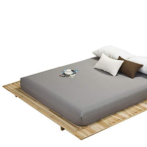 LLDEJUSH Ober- und Tagesdecke, 1 Stück, 100 % Polyester, Spannbettlaken, fest, 4 Ecken mit Gummizug, Dunkelgrau _ 120 x 200 x 25 cm