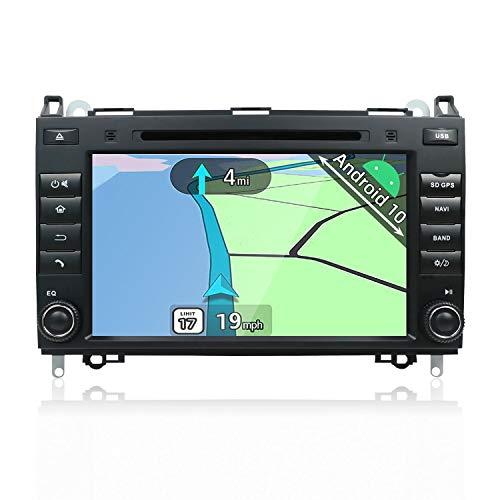 YUNTX Android 8.1 Autoradio für Mercedes Benz Viano/Sprinter/W906 Radio mit GPS Navi Unterstützt Bluetooth | DAB+ | USB | Android Auto | WiFi | 4G | MicroSD | 2 Din | 8 Zoll | DVD | MirrorLink | RDS