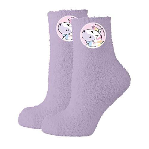 Pummel & Friends - Damen Kuschelsocken Zebrasus Gr. 35/38 Socken Damen