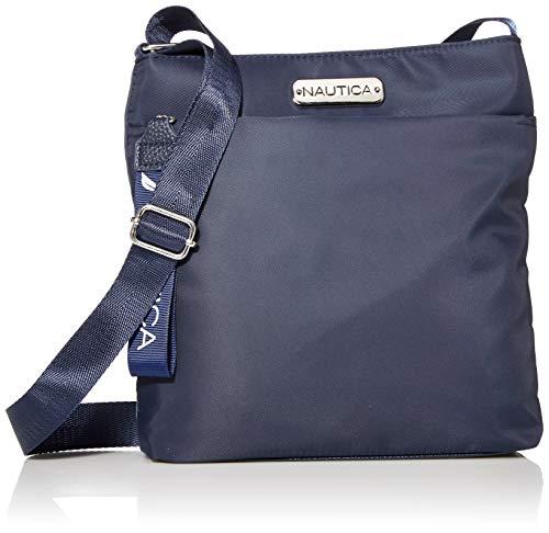 Nautica Diver Nylon Small Womens Crossbody Bag Purse with Adjustable Shoulder Strap, Indigo