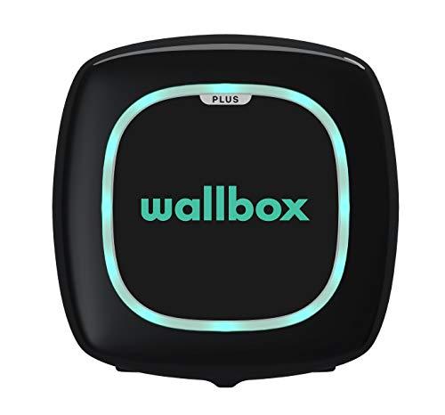 Wallbox Pulsar Plus Cargador para Coches eléctricos. Tipo 2. Potencia máxima 11 kW. (Negro, Cable 5 m)