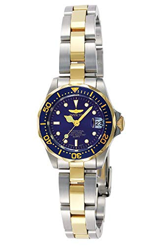 Invicta Women's 'Pro Diver' Quartz Stainless Steel Diving Watch, Color:Silver/Gold toned/Blue...