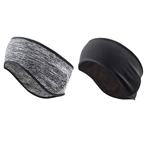 M/W Hawkoch Sport Stirnband, Sport Fahrrad Stirnbänder Ohrenschützer Männer Frauen Fahrrad Laufen Kopfbedeckungen (2 Stück)