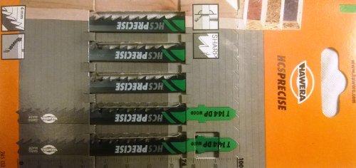 Hawera-Probst, Hawera Stichsägeblatt 4x74 mm HCS T 144 DP WOOD, Holz, Einnockenschaft, 5er-Pack