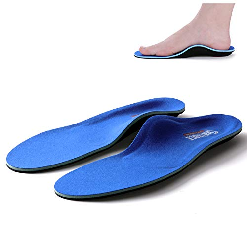Valsole Plantillas Ortopédicas soportes de arco y talones la absorción de choque- para el dolor de talón, pie plano, Fascitis Plantar, dolor de rodilla y espalda (41-42 EU (270mm), V107C-Azul)