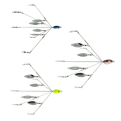 SF 5 Arms Alabama Umbrella Rig Fishing Bass Lures Bait Kit (Classic Alabama Rig wittout Blade/5 Colors)