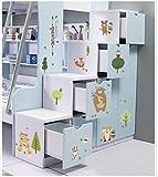 Wandaufkleber Sticker Dekorativer Wandaufkleber-Kindergartenschulklassenzimmerplan Der Tierfamilienkinderzimmerschlafzimmer-Eingangsgarderobe