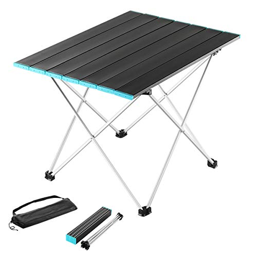 MYEASYZONE Folding Camping Table Portable Ultralight Aluminum Table Top with Storage Bag Easy to Carry for Outdoor Camp Picnic BBQ Cooking Festival Beach Hiking Travel Fishing Home Use