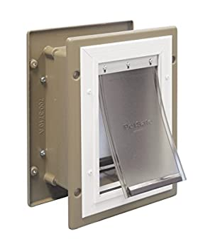 PetSafe Wall Entry Aluminum Pet Door with Telescoping Tunnel Pet Door for Dogs and Cats Small for Pets Up to 15 Lb.