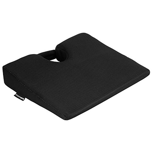 Hardcastle Black Wedge Memory Foam Seat Support Cushion