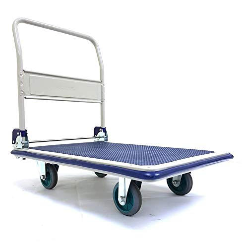 Mystar 300kg Heavy Weight Metal Hand Trolley Lesser Friction and Lesser Strength Needed in handling Truck Holds up to 300 kg