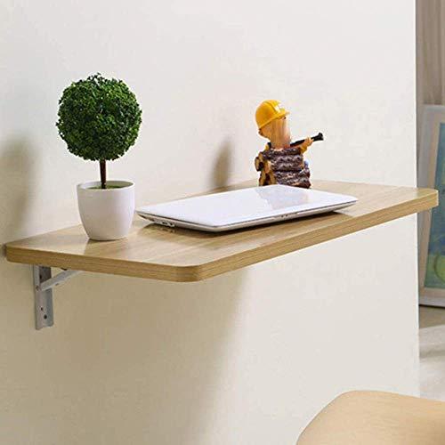 N/Z Tägliche Ausrüstung Holz Wandtisch Klapptisch Home Kleine Wohnung Einfacher Schreibtisch Computertisch Schreibtisch Esstisch C (Größe: 90 * 50 cm)